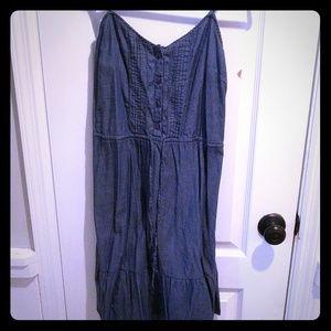Old Navy XS cotton denim spaghetti strap sundress